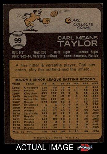 Amazon 1973 Topps 99 Carl Taylor Kansas City Royals Baseball Card Deans Cards 5