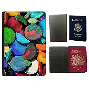 Passeport Voyage Couverture Protector // V00001836 Pintura Arte // Universal passport leather cover