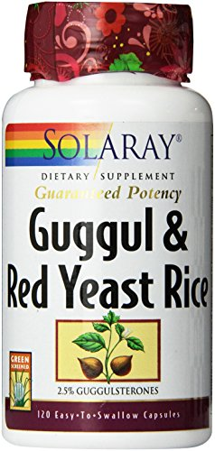 Solaray Guggul Gum Extract & Red Yeast Rice | Healthy Cardiovascular Function Support | Ancient Chinese Medicine & Ayurvedic Medicine Combo | 120ct