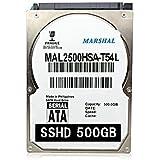 MARSHAL SSHD 2.5インチ HYBRID 内蔵 HDD 500GB 5400rpm 7mm厚 SATA スリム 薄型 SSD搭載 MAL2500HSA-T54L
