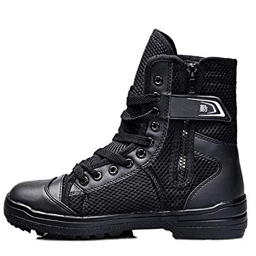 snfgoij Stivali Tattici sotto L'armatura da Uomo Escursionismo Leggero E Traspirante Scarpe da Allenamento Speciali Estive Black
