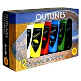 Outlines acrylic paint set large tubes 75ml 12 colours. Non-toxic smooth easy-blend Painting set for professional artists, students, beginners, adults and children