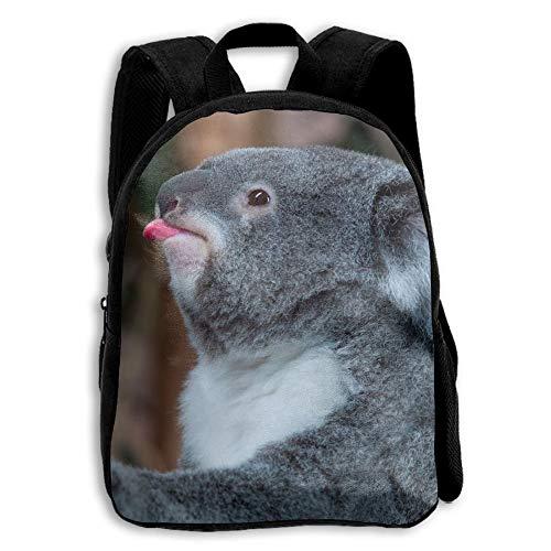 Funny Koala Bear Childrens' Canvas School Backpacks Mini Rucksack School Bag