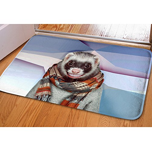 Mumeson Humour Mouse Print Home Doormat Entrance Rugs Kitchen Bathroom Bedroom Funny Floor -