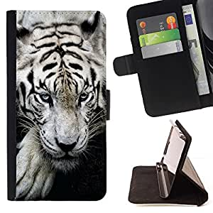 For Samsung Galaxy S6 Tiger Sleepy Cute Animal Ferocious Style PU Leather Case Wallet Flip Stand Flap Closure Cover