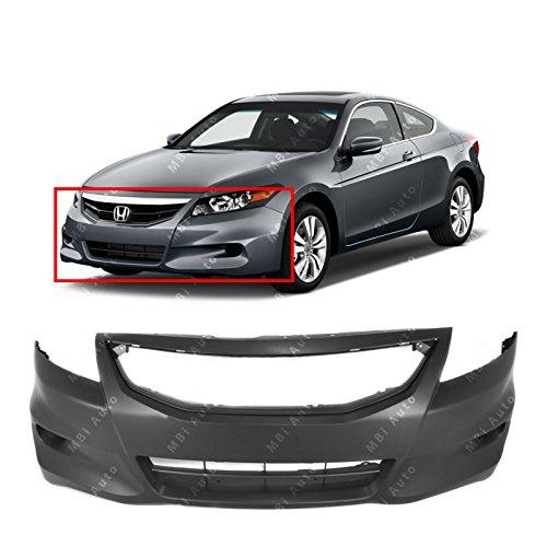MBI AUTO - Primered, Front Bumper Cover Fascia for 2011 2012 Honda Accord Coupe 2-Door 11 12, HO1000277 - Honda Accord Coupe Bumper Cover