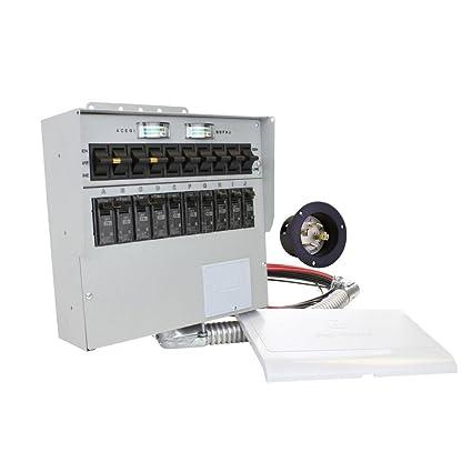 amazon com 310a pro tran2 30 amp 10 circuit 2 manual transfer rh amazon com Inverter Automatic Transfer Switch protran model 15114a manual transfer switch