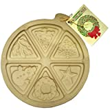 Sassafras Round Holiday Shortbread Mold