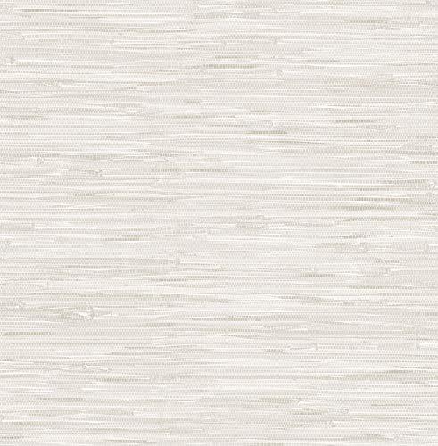WallPops NU2875 Grassweave Cream Peel and Stick Wallpaper Neutral