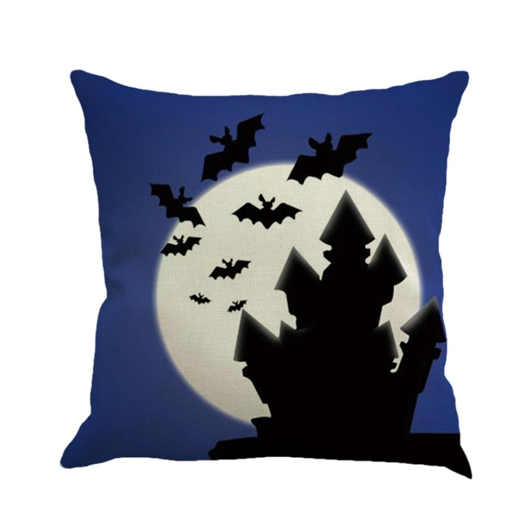 Gotd Vintage Halloween Pillow Covers Decorations Throw Pillow Case Cushion Happy Halloween Decor Clearance Indoor Outdoor Festive Party Supplies (Multicolor A) by Goodtrade8 (Image #2)
