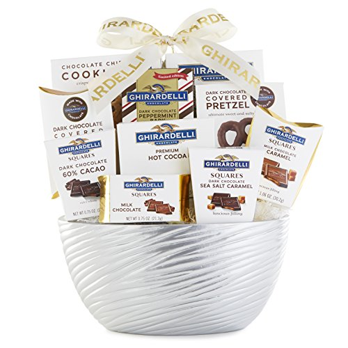 (Ghirardelli Chocolatier Gift Basket – New Chocolate Assortment For 2018 Christmas Holiday Season - Special Select Chocolates With Improved Product Protective Packaging, Damage Free Guarantee)