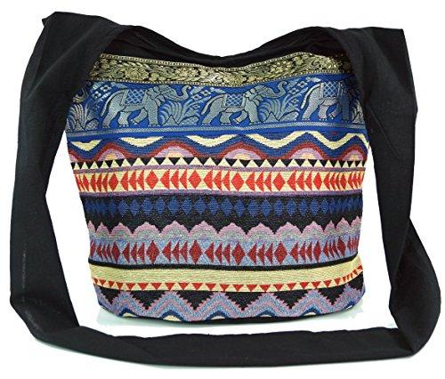 Sadhu Bag, Schulterbeutel, Hippie Tasche Indio - blau / Sadhu Bag, Hippie Beutel