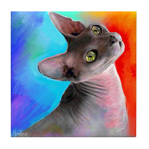 - CafePress - Sphynx Cat 21 - Tile Coaster, Drink Coaster, Small Trivet