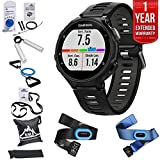 Garmin Forerunner 735XT GPS Running Watch Tri-Bundle - Black/Gray (010-01614-03) + 7 Pieces Fitness Kit + 1 Year Extended Warranty