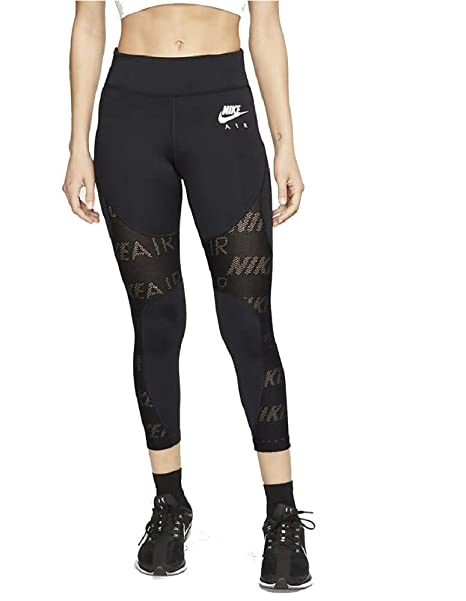Nike AIR Womens Dri-Fit Ankle Leggings Black/White CI0288 ...