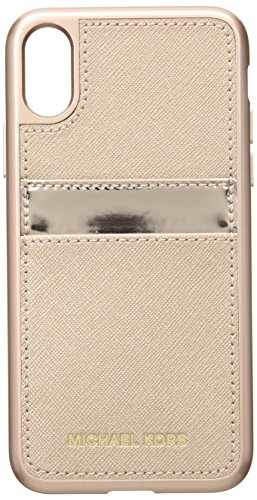(Michael Kors Metallic Phone Cover with Pocket 8, 857)