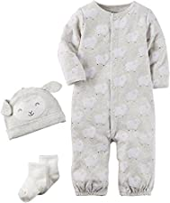Carters Onesies Boy Newborn Gray
