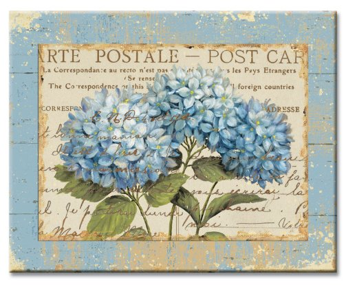 CounterArt Blue Hydrangeas Glass Cutting Board, 15 x 12 Inches