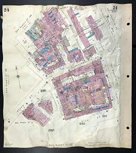 London EC2Y EC1Y Chiswell Street Brewery Beech St Whitecross St GOAD - 1939 - Old map - Antique map - Vintage map - Printed maps of London (Best Breweries In London)