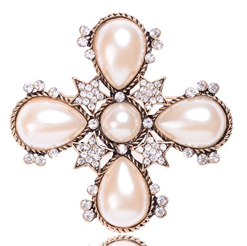 MISASHA Fashion Jewelry Celebrity Designer Encrusted Star Shape Brooch
