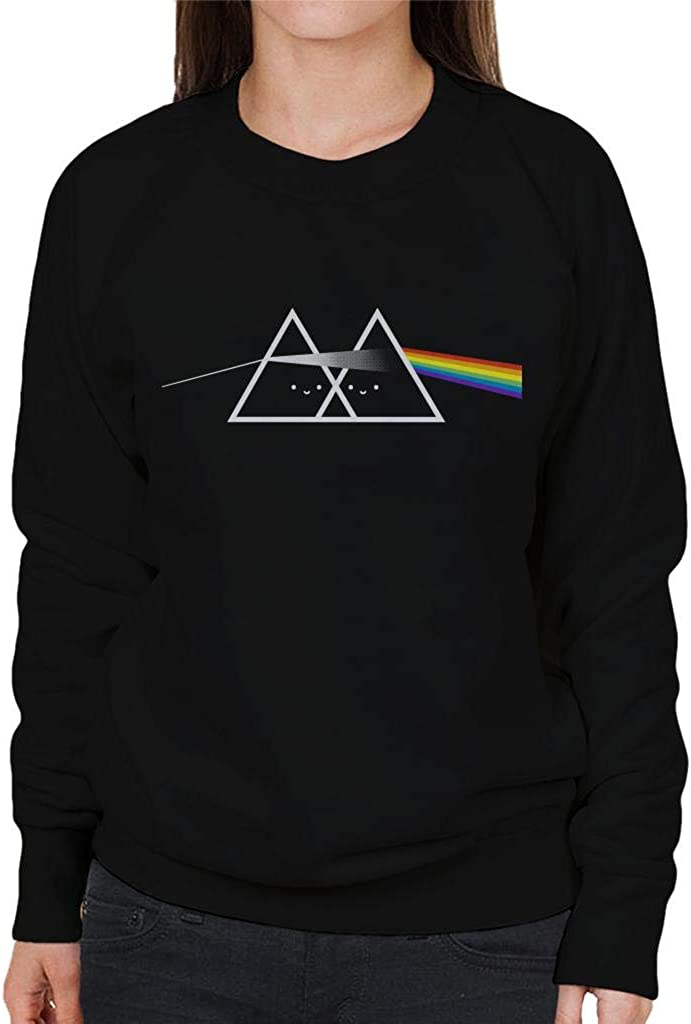 Pink Floyd Cute Side of The Rainbow Womens Sweatshirt