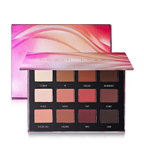Peach Dream Palette - 12 Matte Eyeshadow Palette Brown Pink Red Neutral Warm Eye shadow Makeup Pallet by Prism Makeup ()