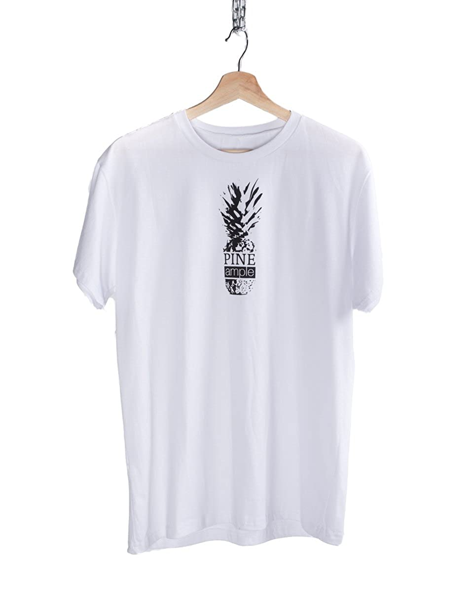 Printed Pineapple T-Shirt hand printed Pineample design