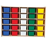 Contender Kids Home School Furniture C16003 25 Tray Storage with Assorted Trays