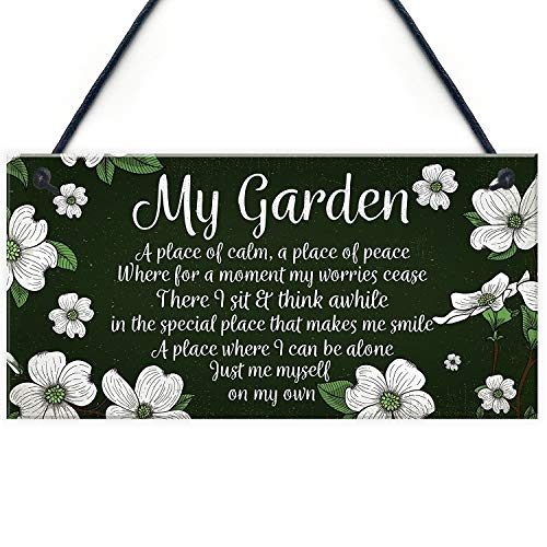 (Meijiafei Novelty Hanging Garden Plaque Present Home Fence Shed Sign Friendship Gift for Her 10