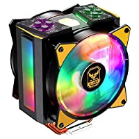 Cooler Master MasterAir MA410M TUF Edition 28 Addressable RGB LED Lighting CPU Air Cooler 4 Heat Pipes, Thermal Sensor, Dual Master MF120R Fans (MAM-T4PN-AFNPC-R1)