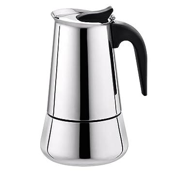 Tritrusten Stovetop - Cafetera de café (6 tazas, acero ...