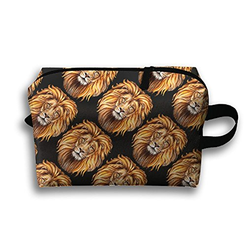 Price comparison product image Lion Head Pattern Cosmetic Bags Makeup Organizer Bag Pouch Purse Handbag Clutch Bag
