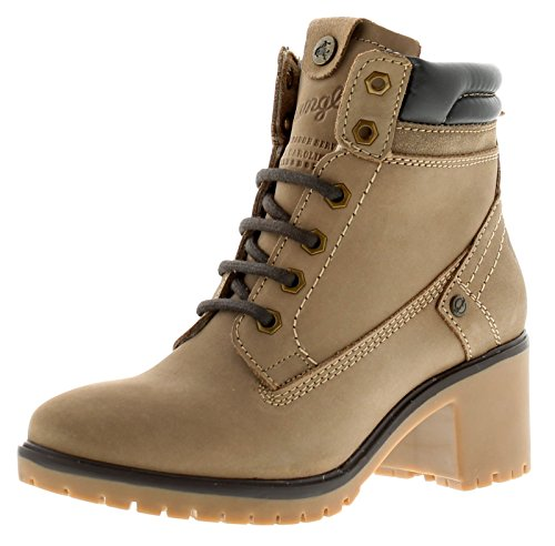 Wrangler New Ladies/Womens Taupe Sierra Lace Ups Fashion Boots - Taupe - UK Sizes 3-8