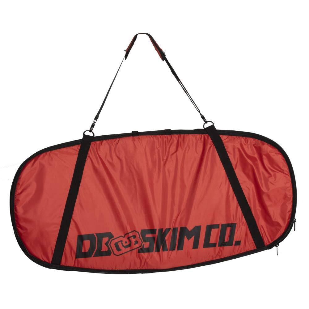 DB Skimboards Day Trip Skimboard Bag - Red, 46''x23'', Skimboard Carrying Bag with Comfortable Shoulder Strap Durable Carrying Handle Internal Tie-Down Straps & Industrial Strength Zipper