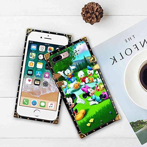 (DISNEY COLLECTION Cartoon Disney Heroes Square Cell Phone Case Fit for iPhone 7 Plus | iPhone 8 Plus 5.5 Inch)