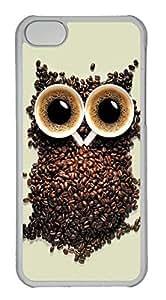 taoyix diy Customized iphone 5C PC Transparent Case - Owl Creat Cover