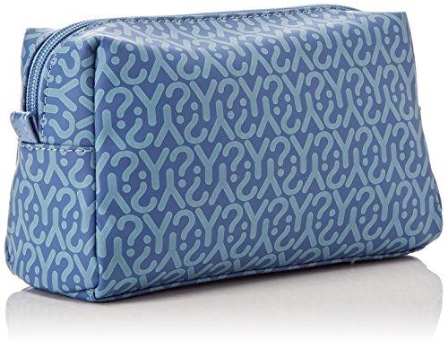 YNOT Gu0304/Pe18, Borsa a Tracolla Donna, 6.5x15x21 cm (W x H x L) Blu (Jeans)