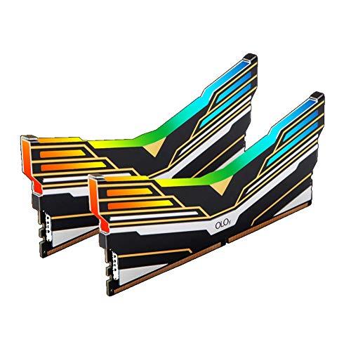 OLOy DDR4 RAM 16GB (2x8GB) Warhawk Aura Sync RGB 4000 MHz CL18 1.4V 288-Pin Desktop Gaming UDIMM (MD4U0840180BE0DA)