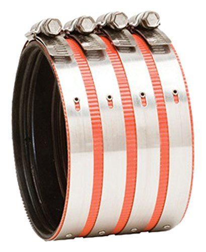 Everflow 15400CS 4 Heavy Duty, Husky Type, No-Hub Coupling With Colored Shield by Everflow - Husky Shield