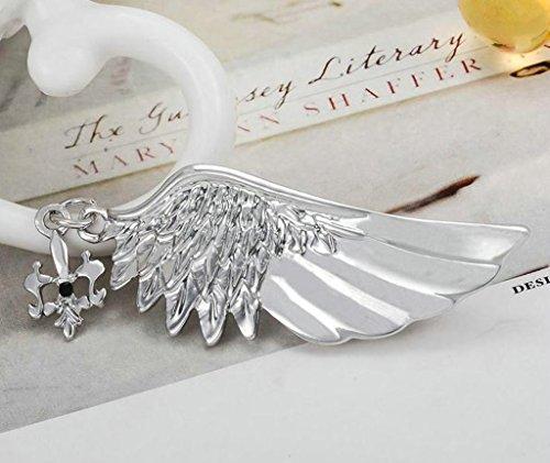 AnaZoz Bijoux de mode broche unisexe acier inoxydable aile broches et pins pour femme Broche de mariage couleur or