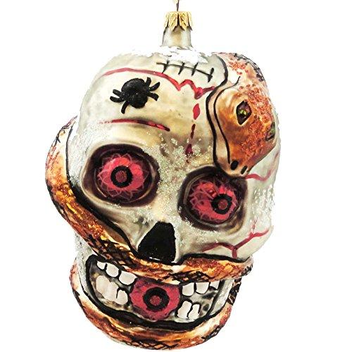 Larry Fraga LEFT FOR DEAD Blown Glass Halloween Ornament Snake ()