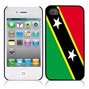Flag of Saint Kitts and Nevis Hard Plastic and Aluminum Back Case for Apple iphone 4 4S