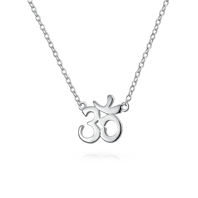 Amazon Om Spiritual Yoga Symbol Pendant Sterling Silver
