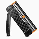 #5: Firbon A4 Paper Cutter 12 Inch Titanium Paper Trimmer Scrapbooking Tool with Automatic Security Safeguard and Side Ruler for Craft Paper, Coupon, Label and Cardstock (Black)
