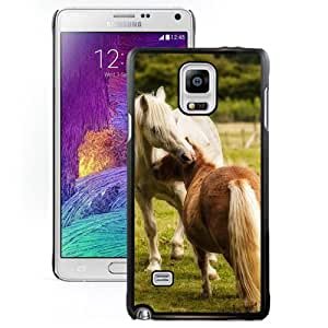 Fashionable Designed Cover Case For Samsung Galaxy Note 4 N910A N910T N910P N910V N910R4 With Ponies Animal Mobile Wallpaper Phone Case