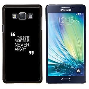 TECHCASE---Cubierta de la caja de protección para la piel dura ** Samsung Galaxy A7 ( A7000 ) ** --negro de motivación de boxeo combate Zen