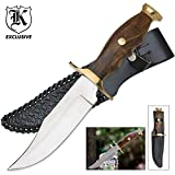 K EXCLUSIVE Mountain Man Classic Hunting Knife And Sheath