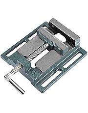 110 mm maskinskruvstäd, gjutjärn arbetsbänk borrskruvstäd med styrskena design av glidskenan för fastspänning av runda material, för borrmaskiner, robust och lätt att rengöra
