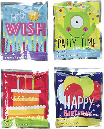Wack-A-Pack Happy Birthday Self-Inflating Foil Balloons 1 Package of 4]()