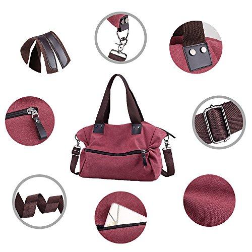 Bucket Canvas Shouder Bag Cross Handbag Bag Girl's Hobo Canvas Casual Women Vintage Body 3303 Bag Bags Nameblue brown Bag Messenger Aw1qat